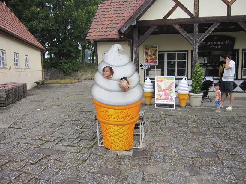 オランダ人家族アイスクリーム