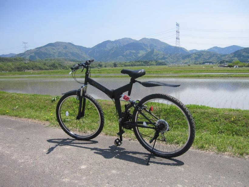 田植えとマウンテンバイク