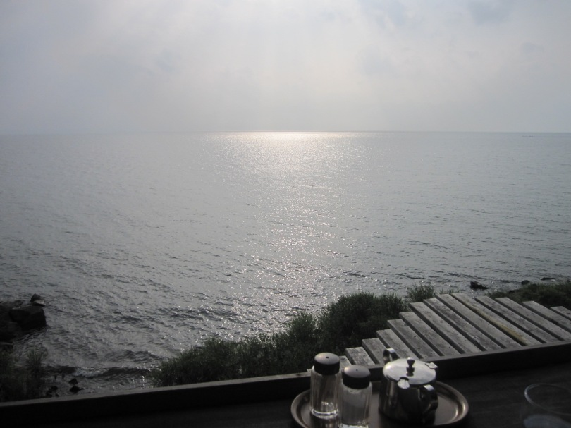 カフェからの琵琶湖