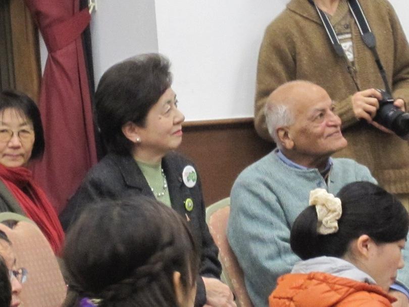 嘉田知事とサティシュ