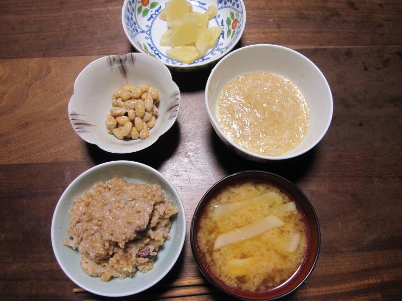 納豆とろろご飯味噌汁