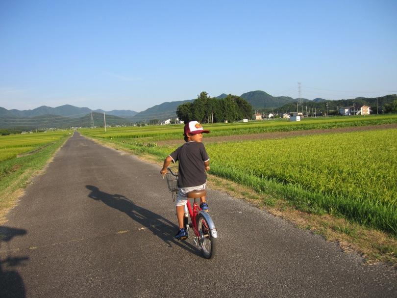 後ろ向きサイクリング